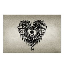 ornate-gothic-heart_bl_9- Postcards (Package of 8)