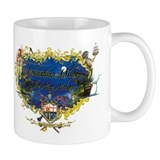 Caribbean Cartouche Small Mug by Johnathan White