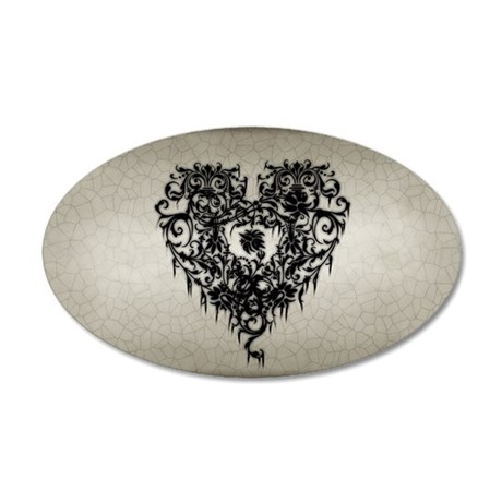 ornate-gothic-heart_bl_9x18h 35x21 Oval Wall Decal