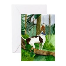 Treeing Walker Coonhound Dog Greeting Cards