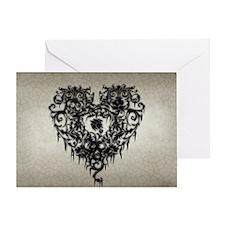 ornate-gothic-heart_bl_10x18h Greeting Card