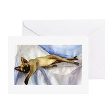 Devon Rex Cat Portrait Greeting Cards