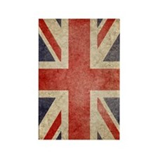 UK Faded Kindle Rectangle Magnet