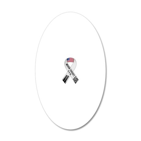 911-Ribbon-Sticker 20x12 Oval Wall Decal