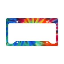 Blue Spiral Beach Bag License Plate Holder
