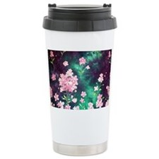 Pink Batik Toiletry Ceramic Travel Mug