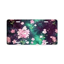 Pink Batik Toiletry Aluminum License Plate