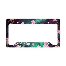 Pink Batik Toiletry License Plate Holder