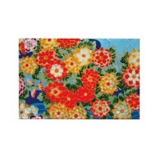 Blue Flowers Toiletry Rectangle Magnet