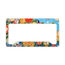 Blue Flowers Toiletry License Plate Holder