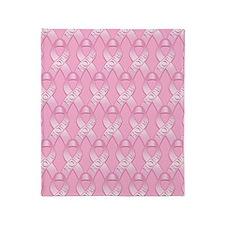 PinkHopeRibP460ipPk Throw Blanket