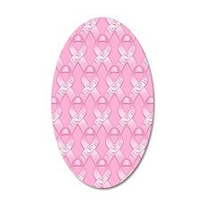 PinkHopeRibP460ipPk 35x21 Oval Wall Decal