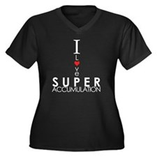 I Love Super Women's Plus Size Dark V-Neck T-Shirt