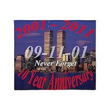 10 year anni wtc Throw Blanket