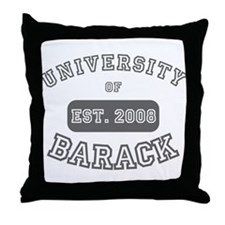 eej University of Barack Throw Pillow