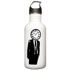 Face Of Time Sports Water Bottle
