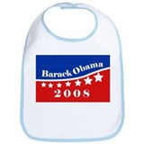 eej Obama rect red/blue star Bib