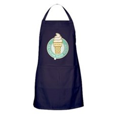 ice cream tester mint Apron (dark)