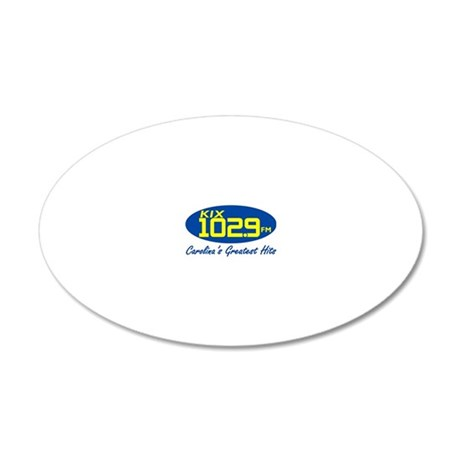 WKIX-FM.eps 20x12 Oval Wall Decal