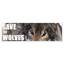 Save the Wolves Bumper Bumper Sticker