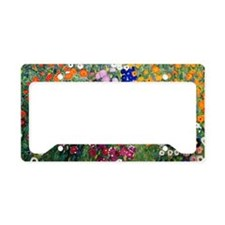Klimt Flowers Clutch License Plate Holder