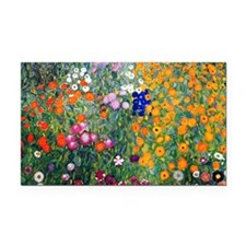 Klimt Flowers Coin Rectangle Car Magnet