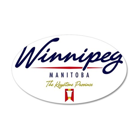Winnipeg Script W 35x21 Oval Wall Decal