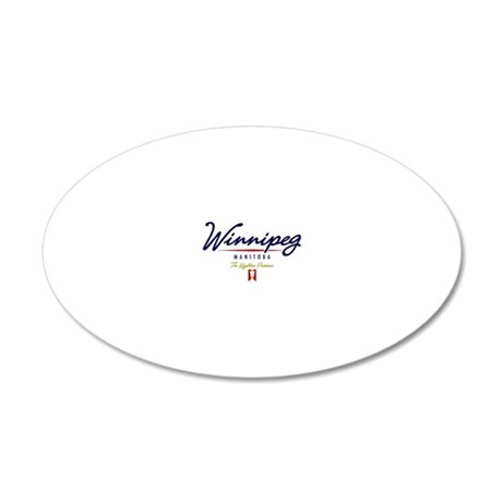 Winnipeg Script W 20x12 Oval Wall Decal