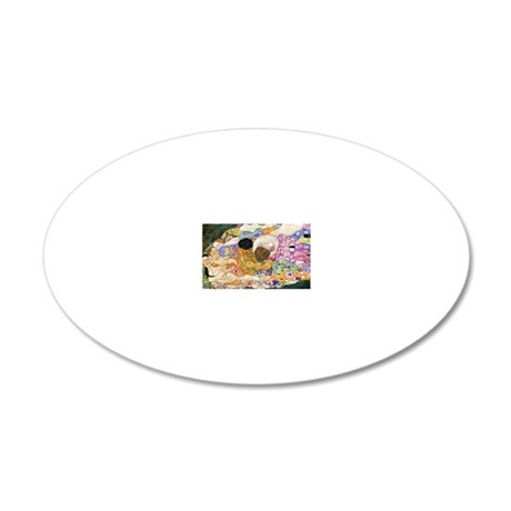 Klimt Life Toiletry 20x12 Oval Wall Decal