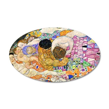 Klimt Life Toiletry 35x21 Oval Wall Decal