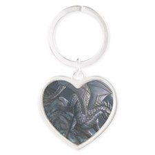 blackwind5x7card Heart Keychain