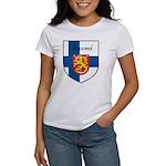 Suomi Flag Crest Shield Women's T-Shirt