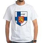 Suomi Flag Crest Shield White T-Shirt