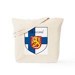 Suomi Flag Crest Shield Tote Bag