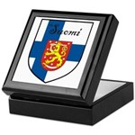 Suomi Flag Crest Shield Keepsake Box