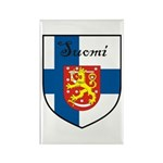 Suomi Flag Crest Shield Rectangle Magnet (100 pack