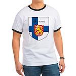 Suomi Flag Crest Shield Ringer T