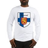 Suomi Flag Crest Shield Long Sleeve T-Shirt