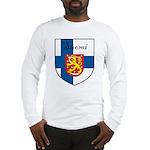 Suomi Flag Crest Shield Long Sleeve T-Shirt