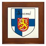Suomi Flag Crest Shield Framed Tile