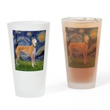 Square-Starry-Greyhound Music-stand Drinking Glass