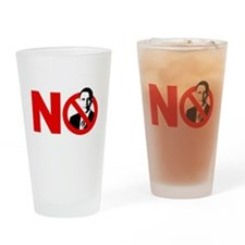 vote no 2012(blk) Drinking Glass