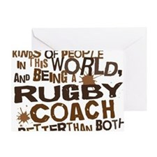 rugbycoachbrown Greeting Card