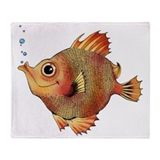bubbles the fish for cafe press smal Throw Blanket
