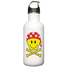 SmileySkullApart Water Bottle