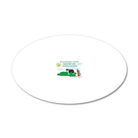 BorderCollie 20x12 Oval Wall Decal