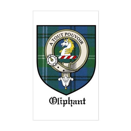 Oliphant Clan Crest Tartan Rectangle Sticker