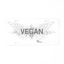 vegan-blanc-06 Aluminum License Plate