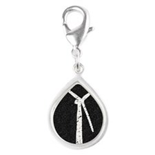 wind works Poster (Large) 2 Silver Teardrop Charm
