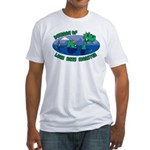 Beware Of Loch Ness Monster Fitted T-Shirt